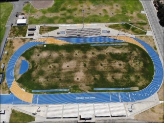 Corcoran High School Track Receives Colorful Makeover