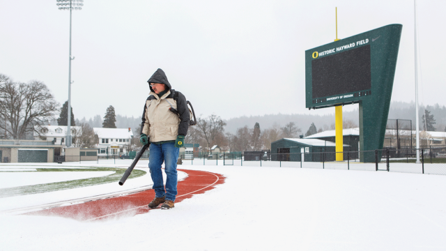 snow removal track and field